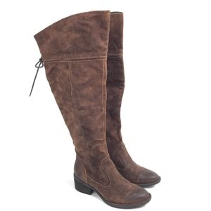 Born Over The Knee Boots Brown Leather